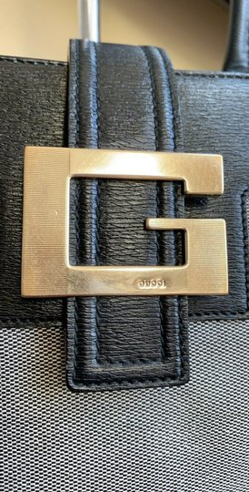Gucci Totes Leather Canvas G Metal Logo Shoulder Bag Image 1