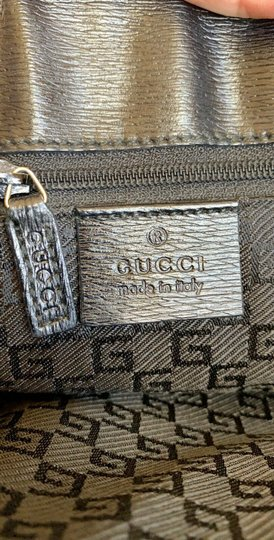Gucci Totes Leather Canvas G Metal Logo Shoulder Bag Image 8