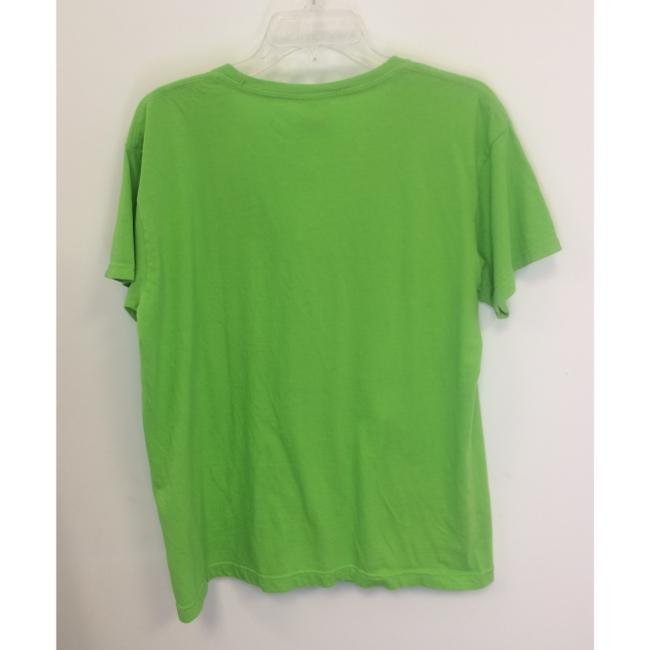 Cool as a Moose Crew Neck Sleeve Cotton T Shirt Green Image 1