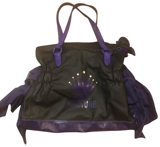 Item - Purse Black Purple Patent Leather Hobo Bag