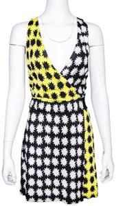 Diane von Furstenberg short dress Yellow, Black & White on Tradesy