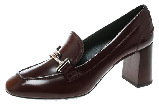 Preload https://img-static.tradesy.com/item/25671506/tod-s-burgundy-leather-gomma-maxi-double-t-court-loafer-pumps-size-eu-395-approx-us-95-regular-m-b-0-1-540-540.jpg