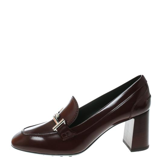 Tod's Leather Burgundy Pumps Image 1