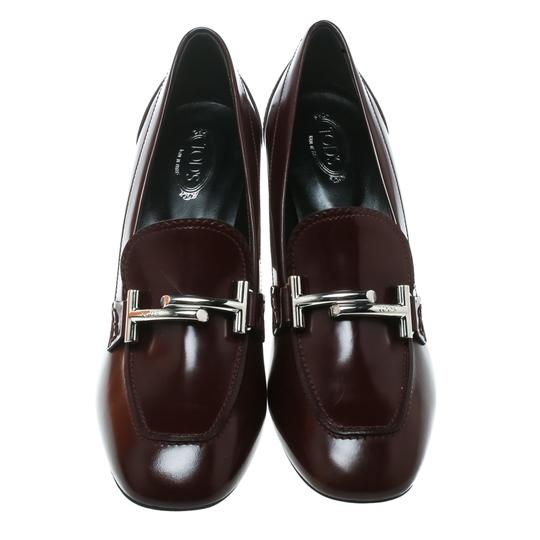 Tod's Leather Burgundy Pumps Image 2