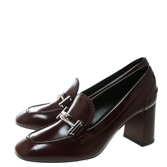 Tod's Leather Burgundy Pumps Image 4