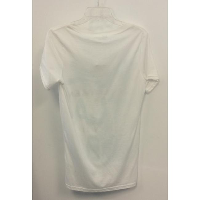 Cool as a Moose Sleeve Cotton V-neck Print T Shirt White Image 1