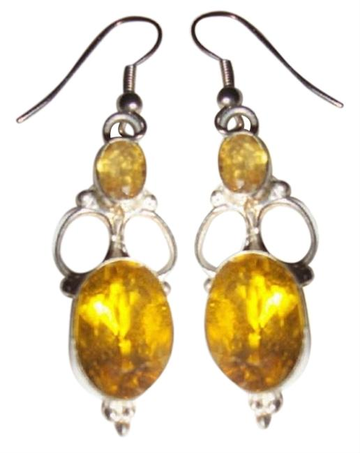 Item - Yellow Citrine In Sterling Silver Dangle Earrings