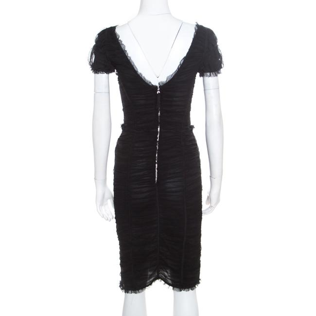 Dolce&Gabbana short dress Black Cotton Fitted on Tradesy Image 1