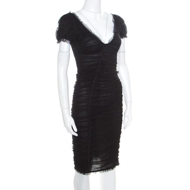 Dolce&Gabbana short dress Black Cotton Fitted on Tradesy Image 2