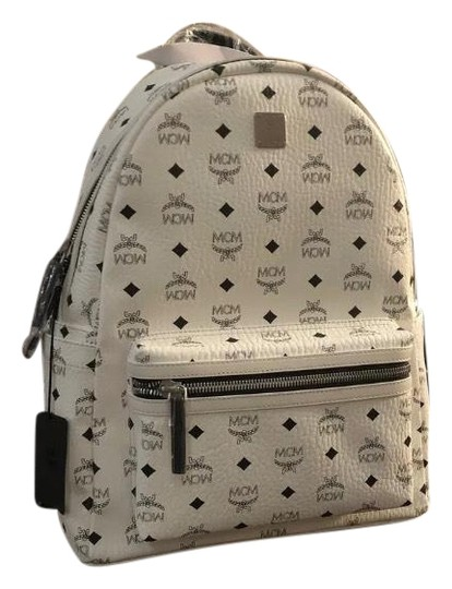 Preload https://img-static.tradesy.com/item/25671535/mcm-medium-white-leather-backpack-0-1-540-540.jpg