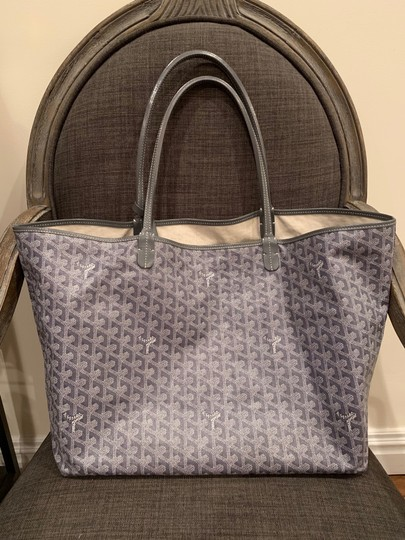 Preload https://item3.tradesy.com/images/goyard-saint-louis-gm-special-color-gray-coated-canvas-beach-bag-25671537-0-0.jpg?width=440&height=440
