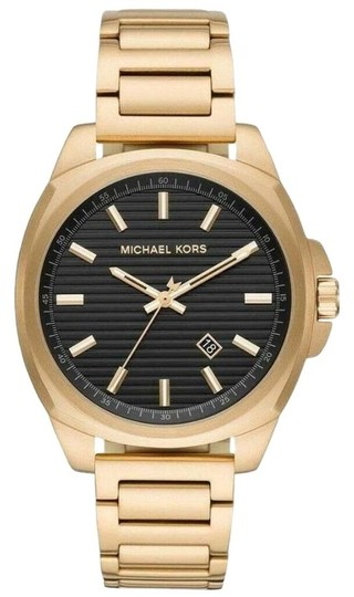 Preload https://img-static.tradesy.com/item/25671566/michael-kors-gold-bryson-three-hand-gold-tone-stainless-steel-mk8658-watch-0-3-540-540.jpg