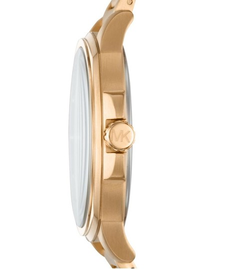 Michael Kors NWT Bryson Three-Hand Gold-Tone Stainless Steel Watch MK8658 Image 1
