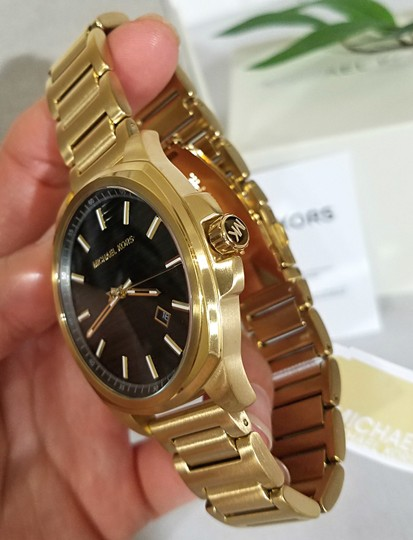 Michael Kors NWT Bryson Three-Hand Gold-Tone Stainless Steel Watch MK8658 Image 7