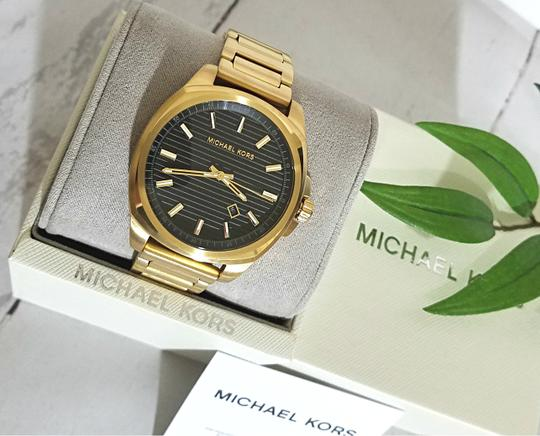 Michael Kors NWT Bryson Three-Hand Gold-Tone Stainless Steel Watch MK8658 Image 8