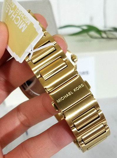 Michael Kors NWT Bryson Three-Hand Gold-Tone Stainless Steel Watch MK8658 Image 9