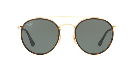 Ray-Ban Gold Rounded Ray Ban Sunglasses RB 3647 -FREE 3 DAY SHIPPING Image 1