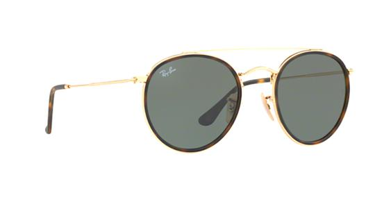 Ray-Ban Gold Rounded Ray Ban Sunglasses RB 3647 -FREE 3 DAY SHIPPING Image 4