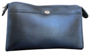 Dior Vintage Pouch Cosmetic Black Clutch
