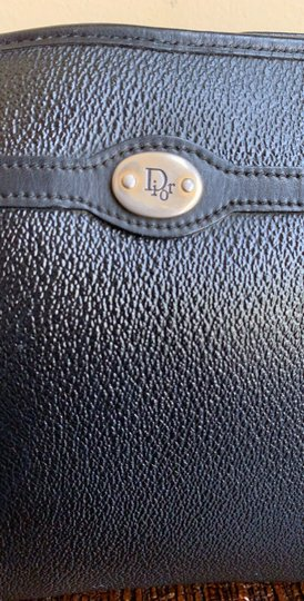Dior Vintage Pouch Cosmetic Black Clutch Image 1