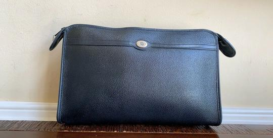 Dior Vintage Pouch Cosmetic Black Clutch Image 11