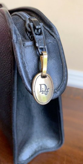 Dior Vintage Pouch Cosmetic Black Clutch Image 4