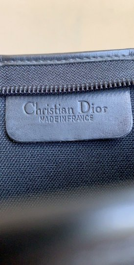 Dior Vintage Pouch Cosmetic Black Clutch Image 9