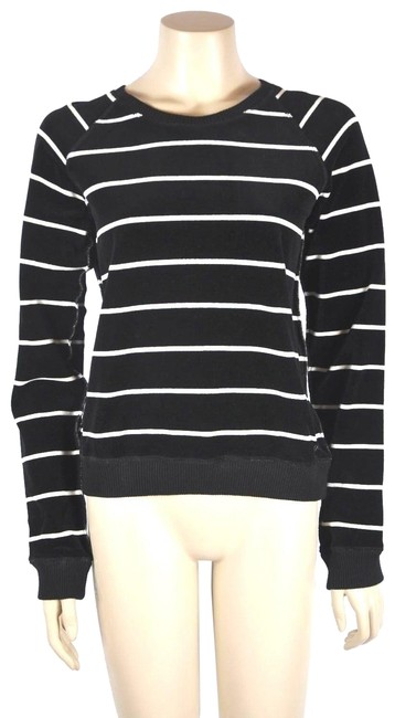 Preload https://img-static.tradesy.com/item/25671626/sonia-rykiel-paris-velvet-ivory-striped-size-m-black-sweater-0-1-650-650.jpg