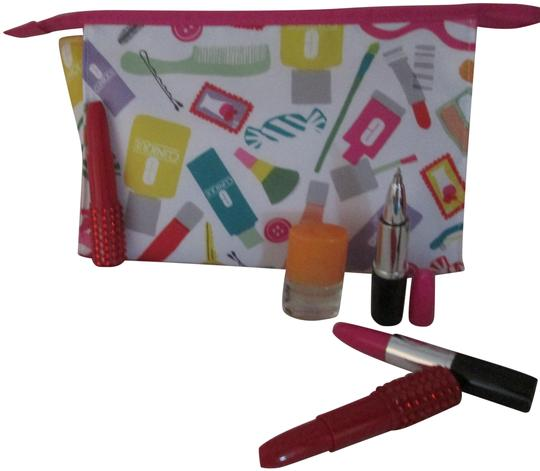 Preload https://item4.tradesy.com/images/clinique-white-with-multi-color-design-happy-large-cosmetic-bag-writing-pens-6-pc-fragrance-25671648-0-1.jpg?width=440&height=440