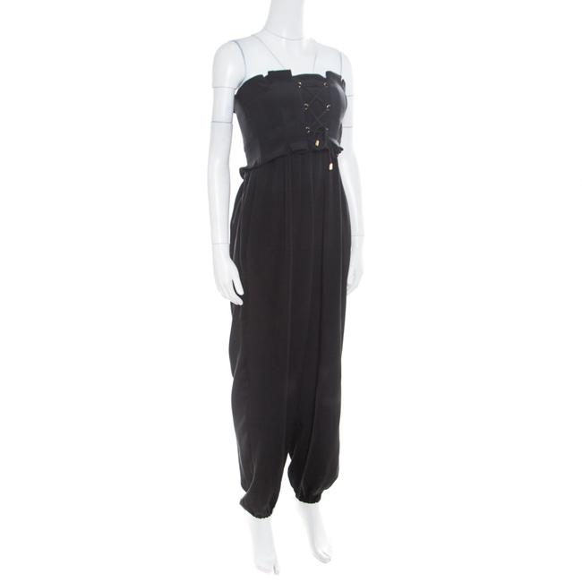 Temperley London Black Silk Criss Cross Detail Strapless Harem Jumpsuit S Image 1