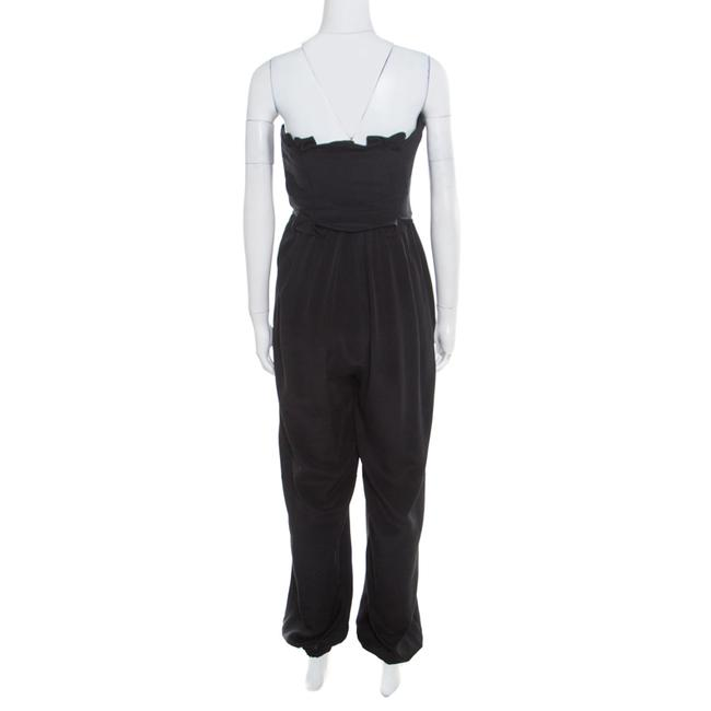 Temperley London Black Silk Criss Cross Detail Strapless Harem Jumpsuit S Image 2