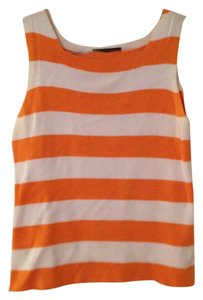 Good Clothes Cami's Tee Shirts Blouses Top White and Orange Stripe