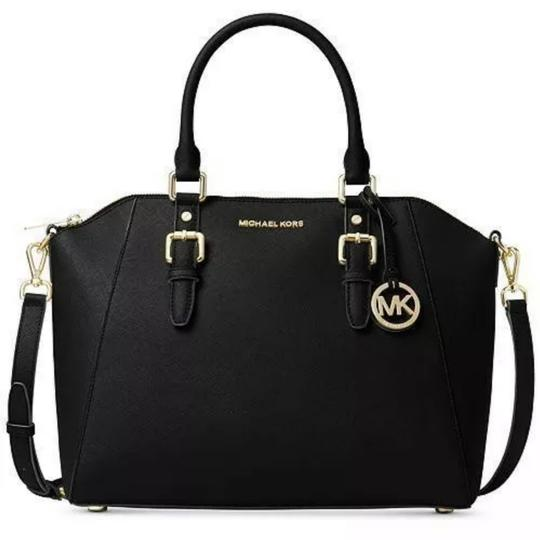 Preload https://img-static.tradesy.com/item/25671722/michael-kors-ciara-large-top-black-saffiano-leather-satchel-0-0-540-540.jpg