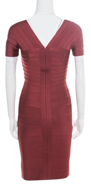 Hervé Leger short dress Burgundy Stretchy on Tradesy Image 0