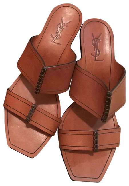 Item - Brown 5 Cm Leather Saba Mules/Slides Size US 9 Regular (M, B)