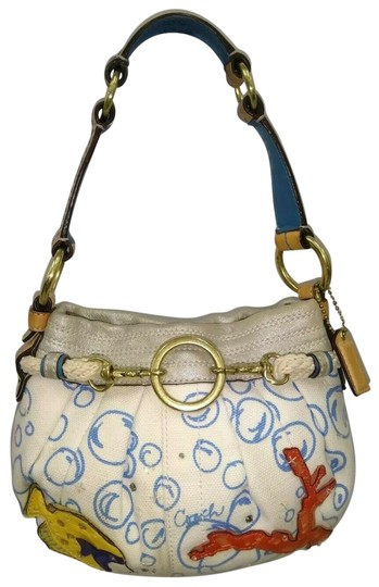 Preload https://img-static.tradesy.com/item/25671764/coach-1941-supper-cute-bubble-ocean-fish-limited-edition-rare-style-4455-wh-white-leather-canvas-sho-0-1-540-540.jpg