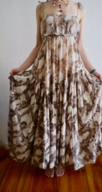 brown,beige and white Maxi Dress by AllSaints Image 3