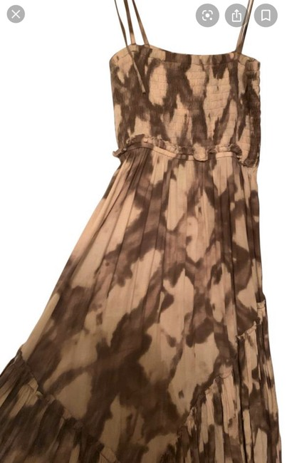 brown,beige and white Maxi Dress by AllSaints Image 4