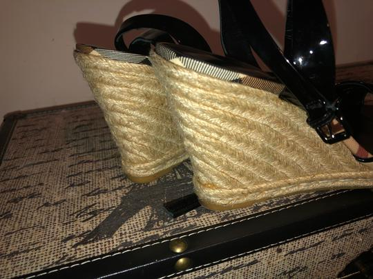 Burberry Black and Cream Wedges Image 3