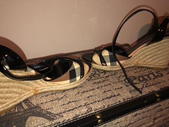 Burberry Black and Cream Wedges Image 4