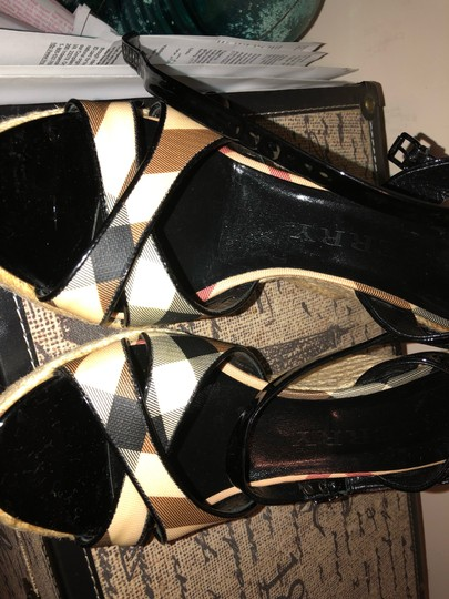Burberry Black and Cream Wedges Image 6