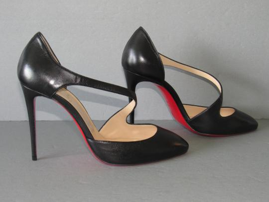 Christian Louboutin Red Sole With Box Almond Toe Black Pumps Image 3