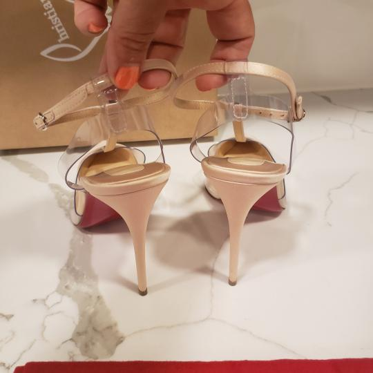 Christian Louboutin Nosy Pvc T Strap Crystal Strass Nude Pumps Image 2