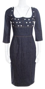 Dior short dress Blue Embellished Denim on Tradesy