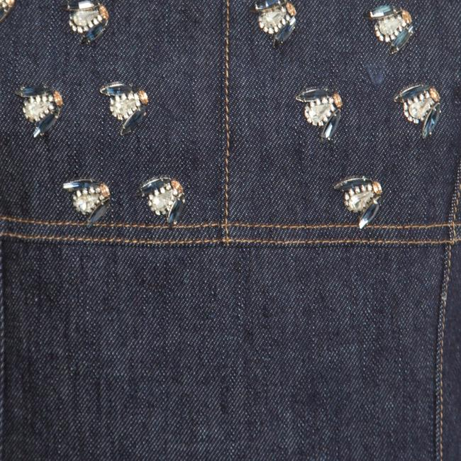Dior short dress Blue Embellished Denim on Tradesy Image 3