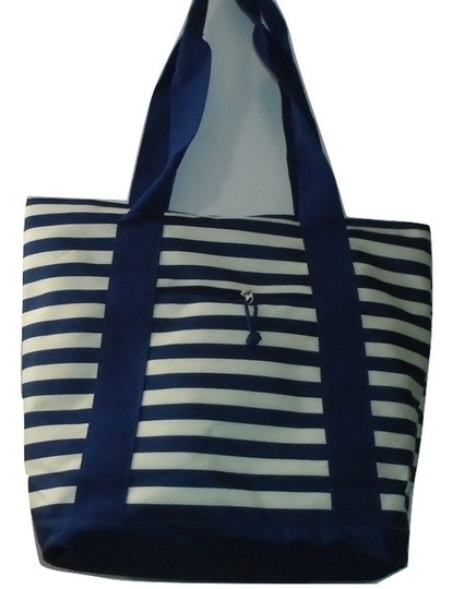 Preload https://img-static.tradesy.com/item/25671839/large-shopper-blue-white-stripe-polyester-tote-0-0-540-540.jpg