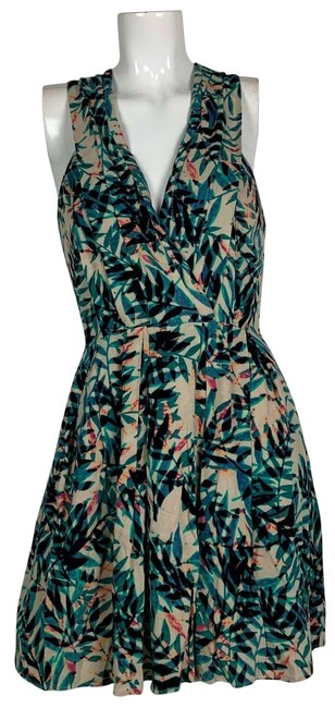 Preload https://img-static.tradesy.com/item/25671856/anthropologie-multicolor-excellent-condition-greylin-fern-tropical-short-cocktail-dress-size-4-s-0-2-650-650.jpg