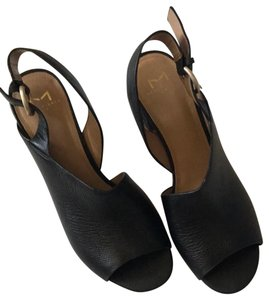 Marc Fisher Marcfisherltd Leather Black Sandals