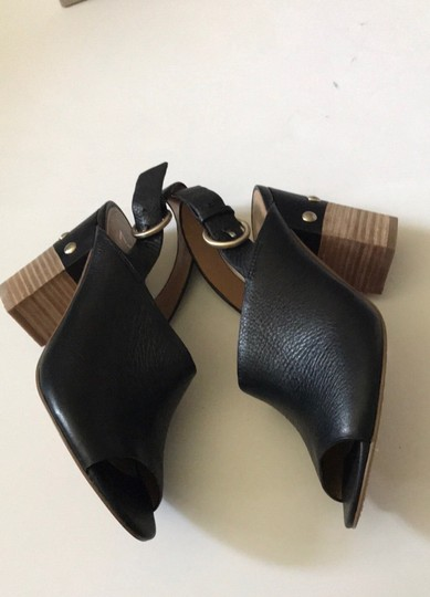 Marc Fisher Marcfisherltd Leather Black Sandals Image 1