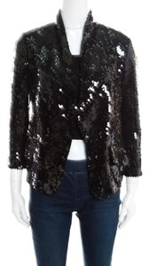 Saint Laurent Sequin Embellished Black Jacket